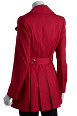 Via Spiga Raspberry Doublebreasted Scarpa Belted Trench Coat in Red (raspberry) - Lyst