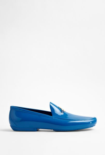 Vivienne Westwood Traffic Blue Plastic Orb Loafers in Blue for Men