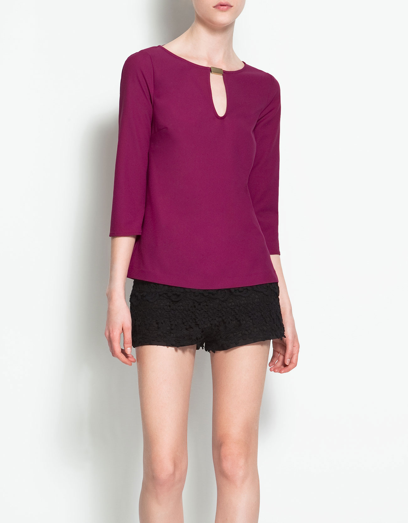 Zara Purple Blouse 44