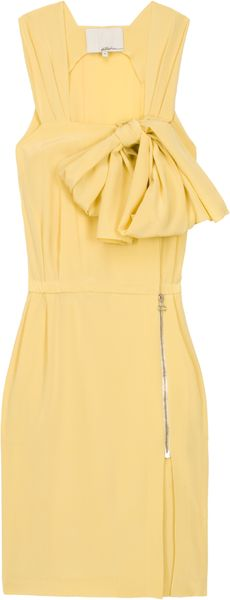 3.1 Phillip Lim Silk Crepe De Chine Overlap Dress - Lyst