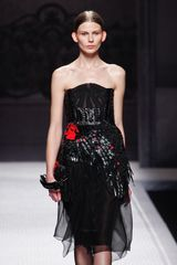 Alberta Ferretti Fall 2012 Layered Knee Length Skirt In Black - Lyst