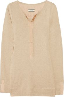 By Malene Birger Silk-trimmed Cotton Top - Lyst