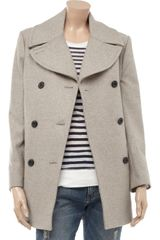 By Malene Birger Massia Woolblend Coat in Gray - Lyst