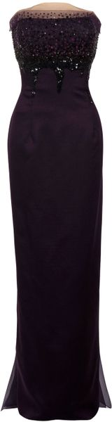 Carolina Herrera Bustier Gown in Black (purple) - Lyst
