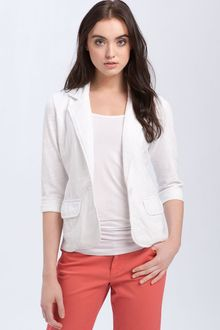 Caslon® One Button Knit Jacket - Lyst