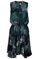 Edun Asymmetric Hem Dress in Green (multi) - Lyst