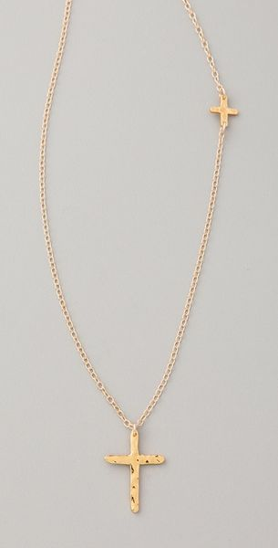 Gorjana Cross Over Long Necklace - Lyst