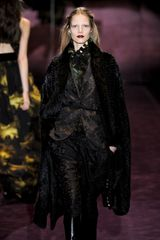 Gucci Fall 2012 Long Fur Coat In Black  - Lyst