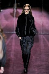 Gucci Fall 2012 Velvet Appliqué Pants  in Black - Lyst