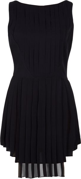 Hakaan Pleat Dress in Black - Lyst