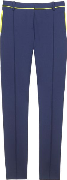 Jason Wu Stovepipe Pant W/Neon Trim in Blue