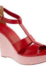 J.Crew Palma Leather Platform Wedges - Lyst