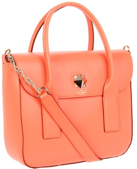 Kate Spade New York New Bond Street Florence Shoulder Bag in Orange (coral) - Lyst