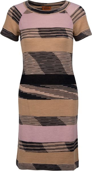 Missoni Mascotte Printed Dress in Brown (multi) - Lyst