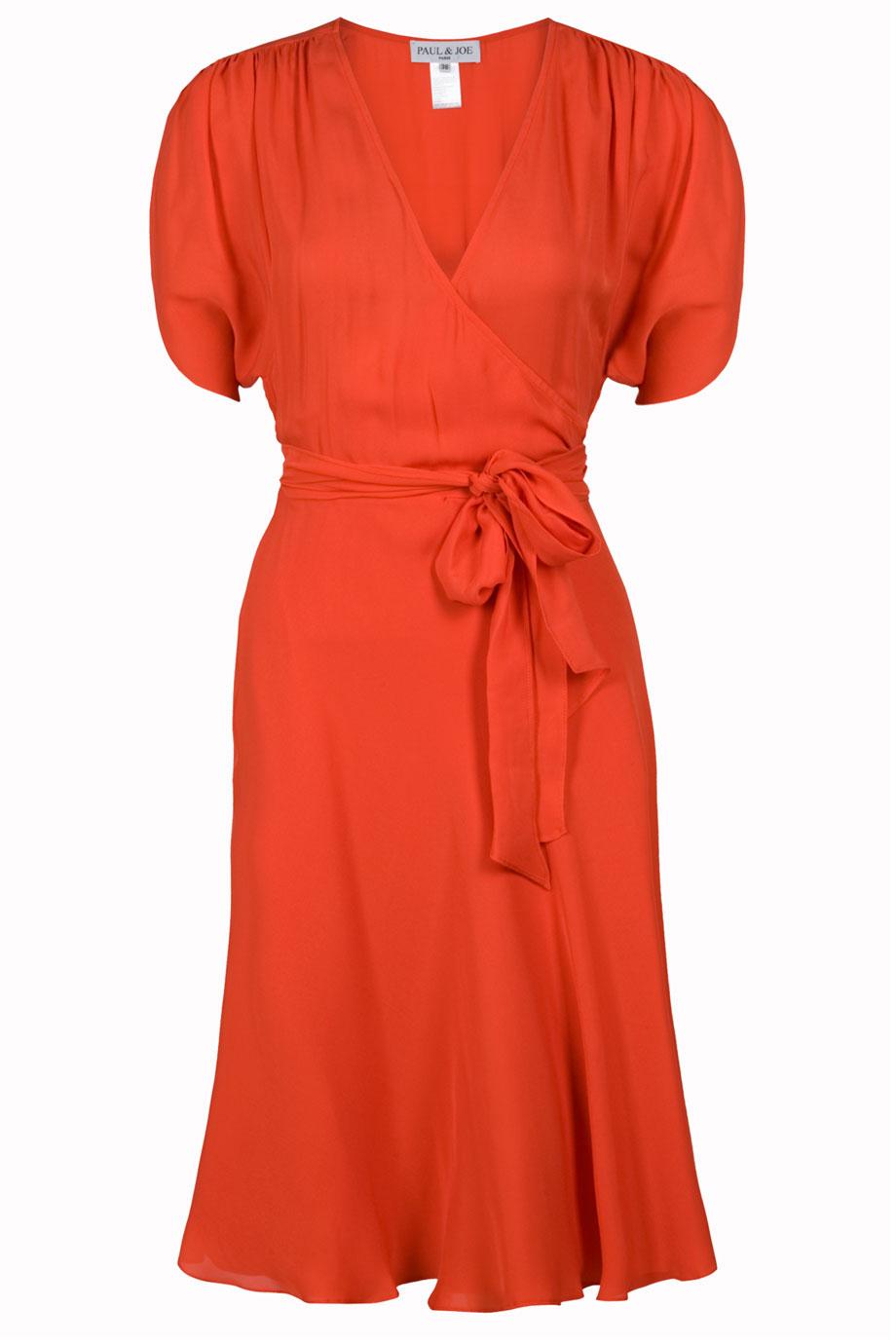 Paul Amp Joe Toffoli Wrap Dress In Orange Lyst