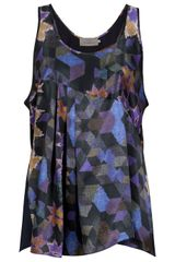 Preen Carrie Printed Vest in Purple - Lyst