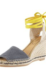 See By Chloé Ankle-wrap Wedge Espadrille - Lyst