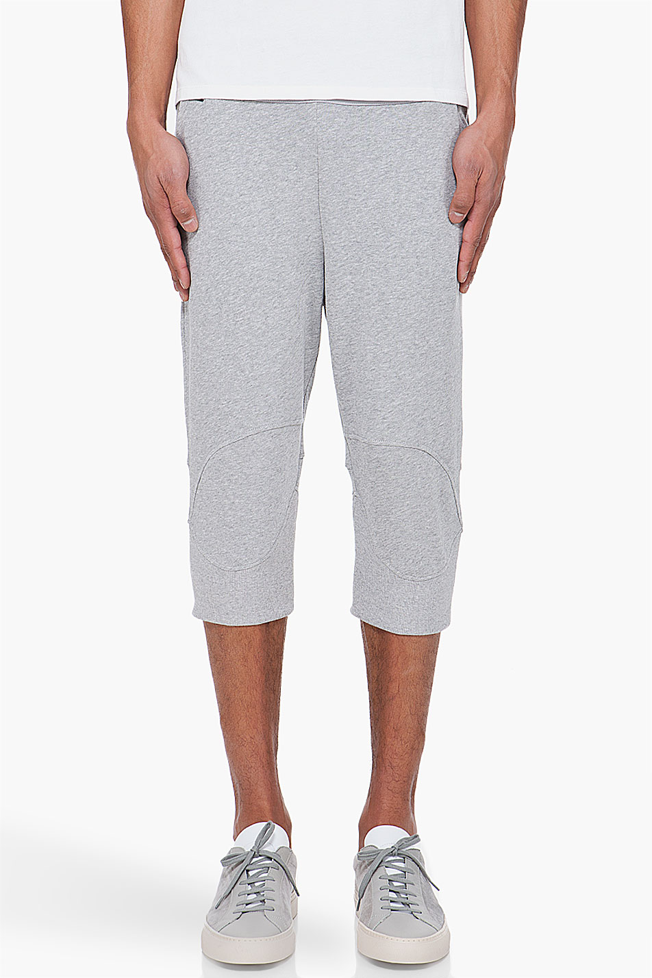 Adidas Slvr Cropped Fencing Pants In Gray For Men Grey