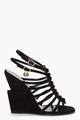 Yves Saint Laurent Strappy Trybal Wedges - Lyst
