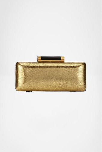 Diane Von Furstenberg Tonda Metallic Leather Clutch - Lyst