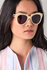 Karen Walker Number One Sunglasses in White (vanilla) - Lyst