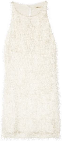 L'Agence Eyelash-fringed Mini Dress - Lyst