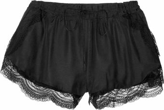 Lover Silk and Lace Shorts - Lyst