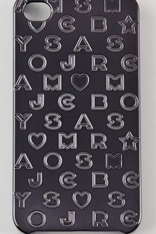 Marc By Marc Jacobs Metallic Stardust Logo Iphone Case - Lyst