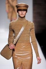 Max Mara Fall 2012 Long Sleeve Turtleneck In Camel
