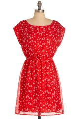 ModCloth Got It On Flock Dress - Lyst