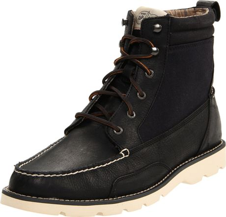 sperry top sider mens shipyard rigger boot in black for