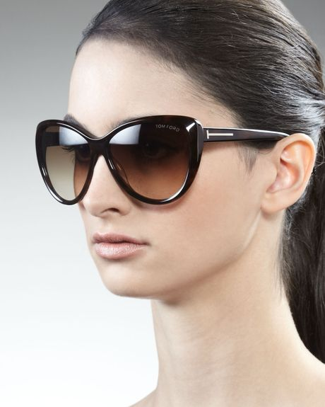 tom ford malin cateye sunglasses in purple melang violet lyst. Cars Review. Best American Auto & Cars Review