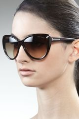Tom Ford Malin Cat-eye Sunglasses, Havana - Lyst