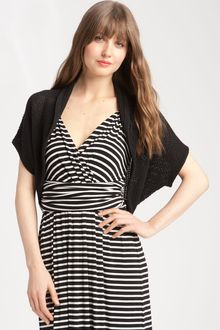 Vince Camuto Open Stitch Shrug - Lyst