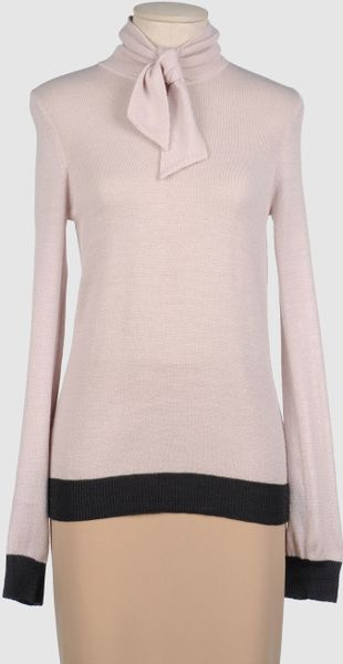 Betty Jackson Long Sleeve Jumper in Gray (lead) - Lyst