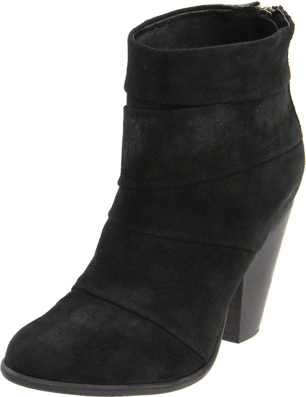 steve madden arrena ankle boot in black black suede lyst