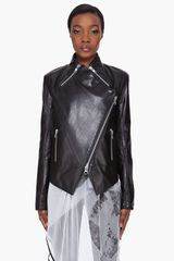 Unttld Leather Biker Zip Jacket - Lyst