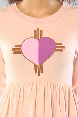 Wildfox The Native Heart London Babydoll Dress in Pink - Lyst