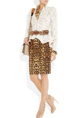 Alexander Mcqueen Crochetembroidered Silkorganza Jacket in White (blush) - Lyst