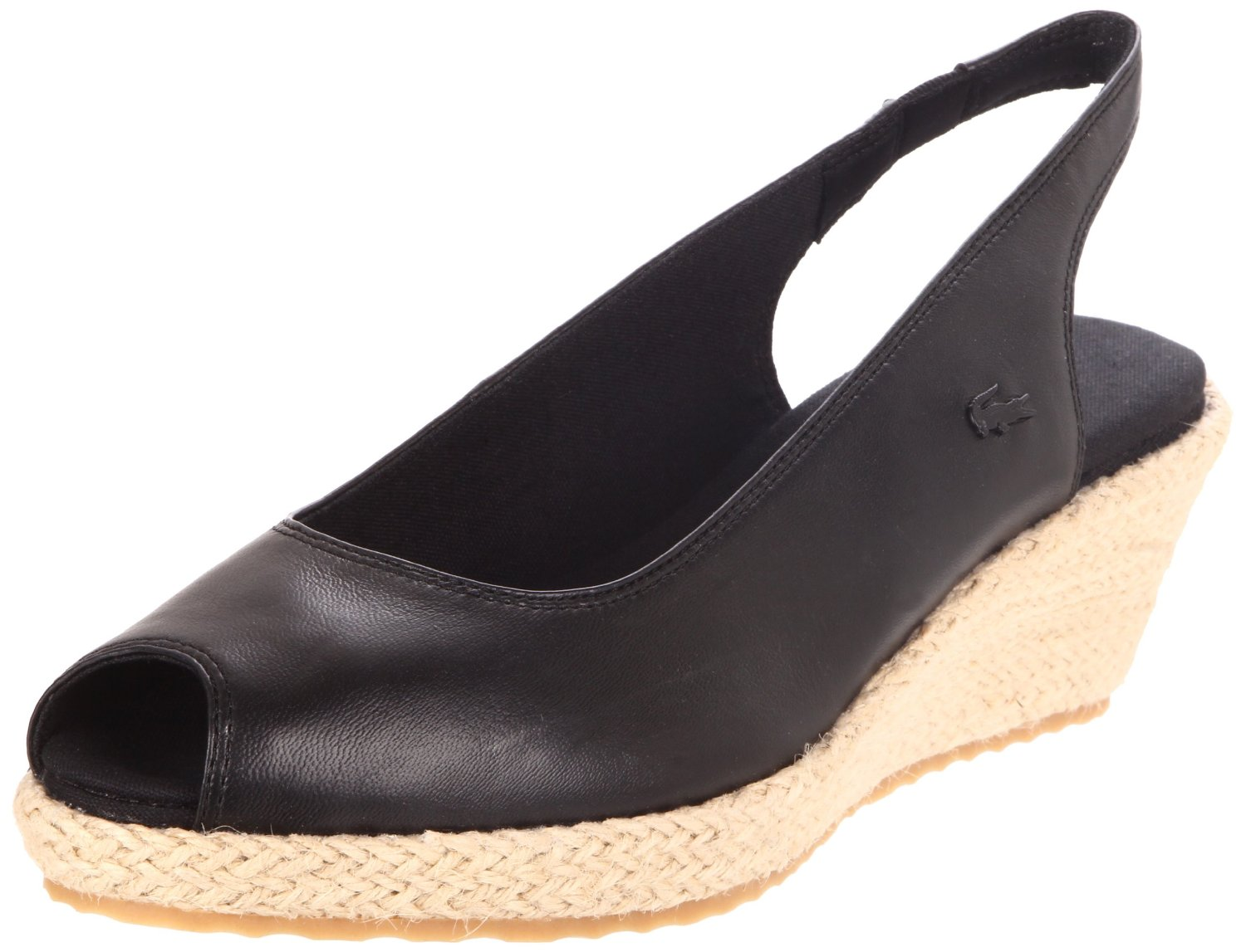 lacoste chantemar wedge pumps in black lyst
