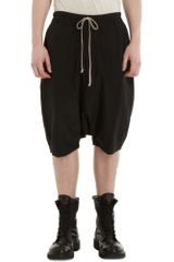 Rick Owens Low Crotch Shorts - Lyst