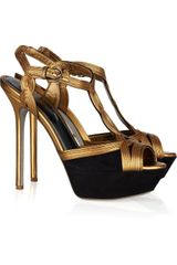 Sergio Rossi Suede And Leather Sandals - Lyst