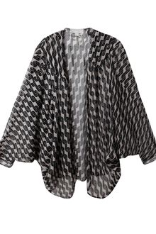Beyond Vintage Printed Silk Cape - Lyst