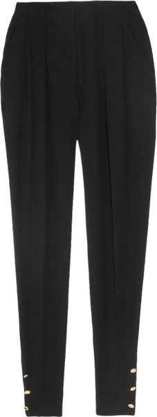 Gucci Highwaisted Crepe Pants in Black - Lyst
