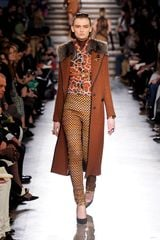 Missoni Fall 2012 Fur Collar Stripe Coat  - Lyst