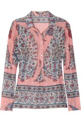 Paul & Joe Sister Birmanie Printed Cotton and Silk-blend Blouse - Lyst