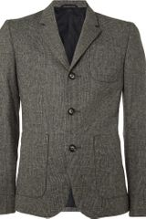 Aubin & Wills Prince Of Wales Check Wool Blazer - Lyst