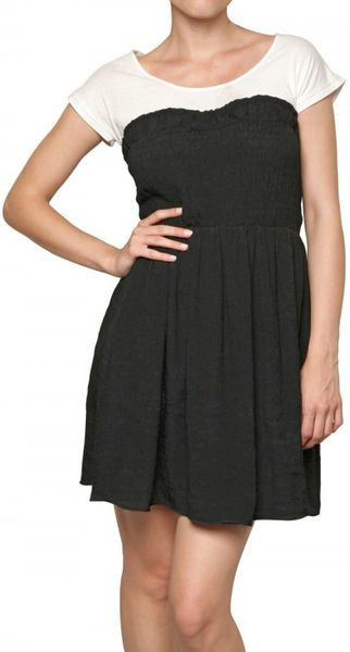 Beayukmui Crepe and Jersey Faux Tube Dress in Black - Lyst