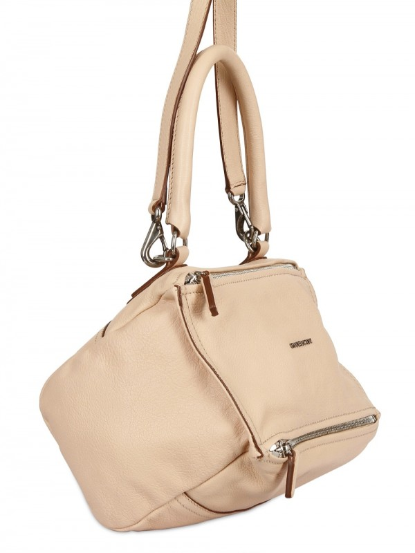 4eeca048267e Lyst - Givenchy Pandora Small Grain Leather Shoulder Bag in Natural