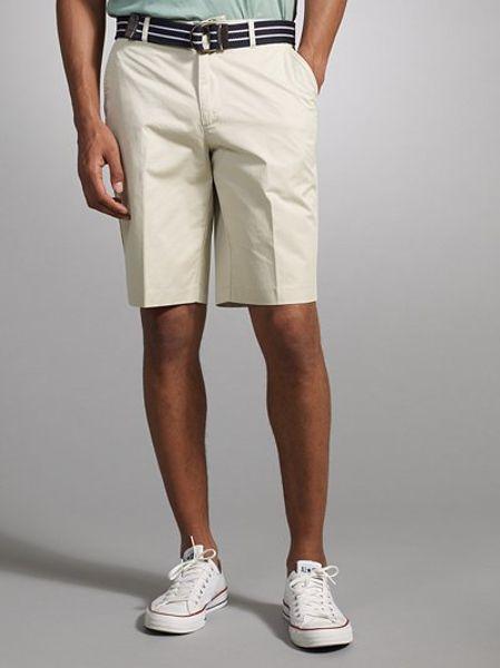 White Chino Mens Chino Shorts in White For